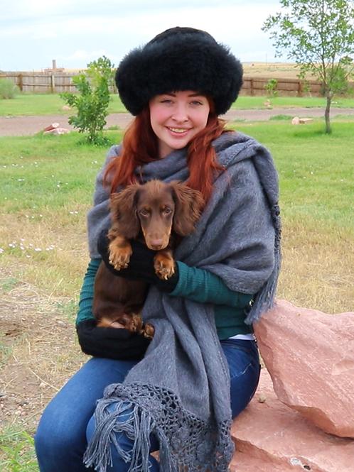 Peruvian Woven Shawl (grey)