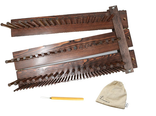 Hand Crafted Weaving Peg Loom (up to 6-feet)