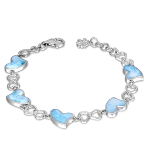 Floating Heart Larimar Bracelet