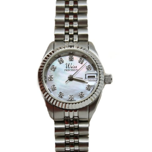Weiss Precision Women's Mother of Pearl/Diamond Watch