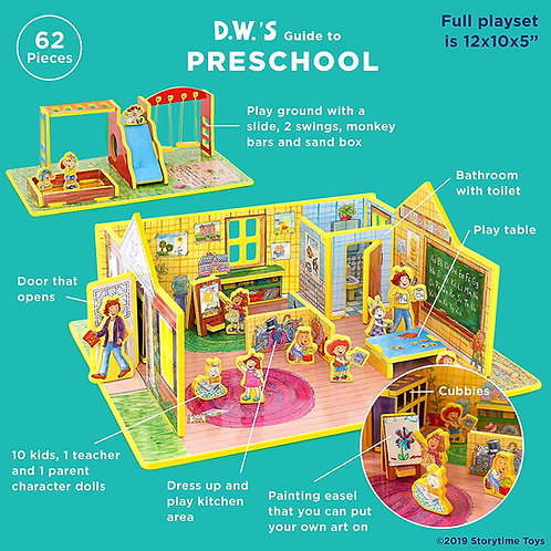 Storytime Toys - DW's First Day of Preschool (Play Set)
