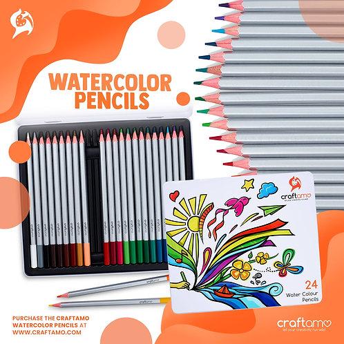 24 Watercolour Pencils