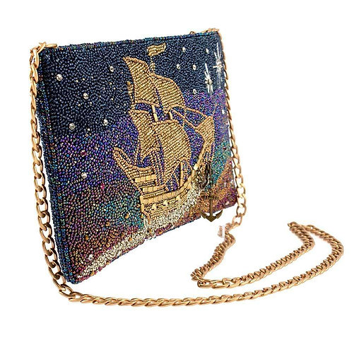 Think Happy Thoughts, Beaded Disney Peter Pan Ship Handbag
