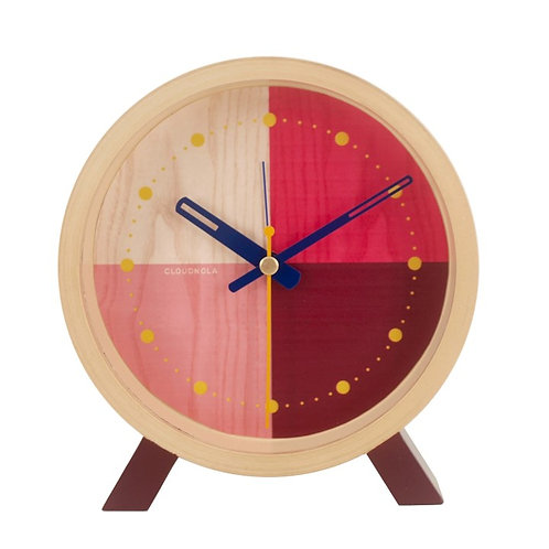 Red Flor Desk Clock