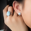 Thumbnail: Round Post Larimar Earrings