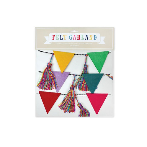 Multi-color Felt and Tassel Garland