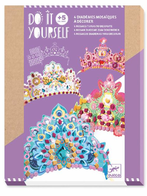Kids Craft - Princess Crowns (A Diamemes Mosaiques)