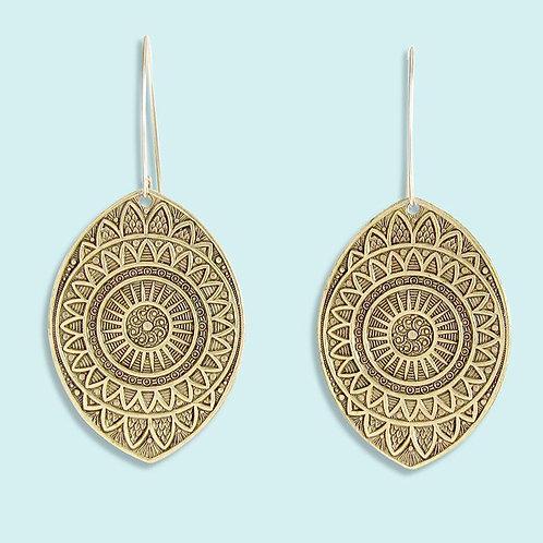 Eye Medallion Earrings - Ornamental Things