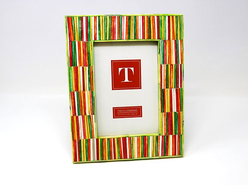 Tazai Home - Photo Frame 4 x 6 Multi-Colored (Strands Design)