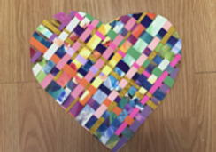 watercolor and paper weaving art class