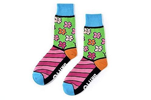 Yo Sox - Women's Crew Socks - Flower Power