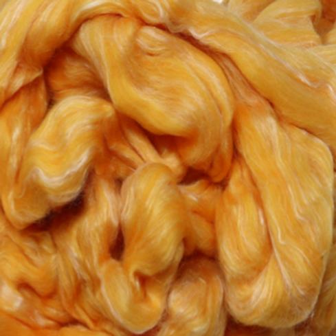 Dyed Merino Silk Top - Golden Hibiscus