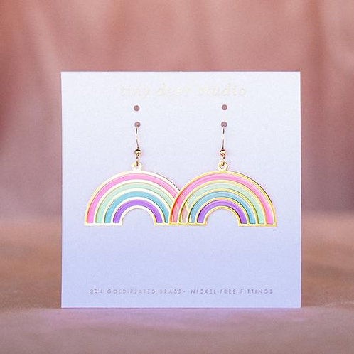 Rainbow Translucent Drop Earrings