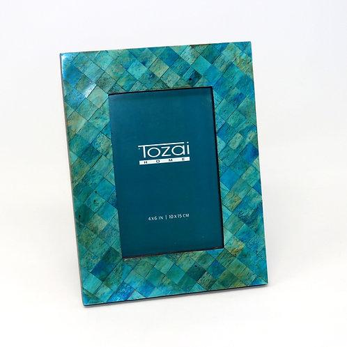 Tazai Home - Teal Bone Photo Frame 4 x 6 (Diamond Design)