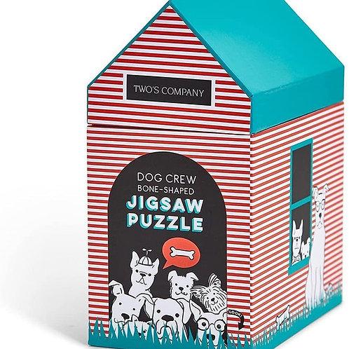 Dog Crew Bone Shaped Jigsaw Puzzle - 1000 Pieces