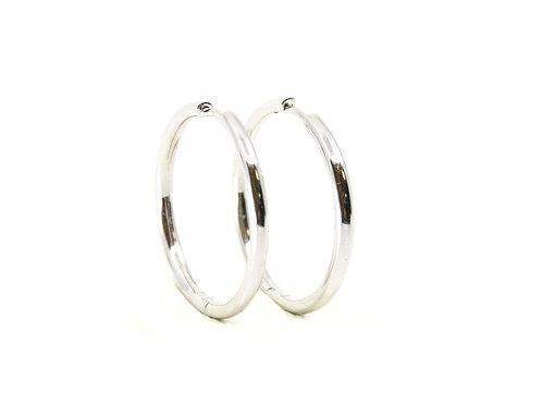 Sterling Silver Hinged Hoop Earrings