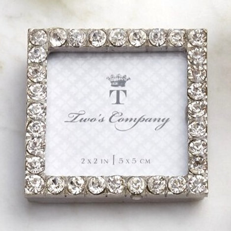 "Jeweled Mini Frame 2"" x 2"" Square"