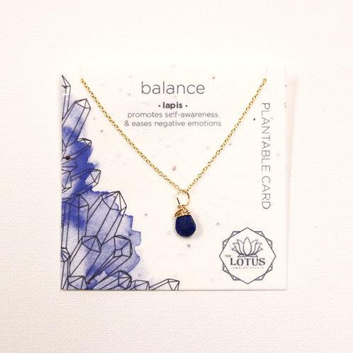 Healing Stone Necklace - Balance (Lapis)