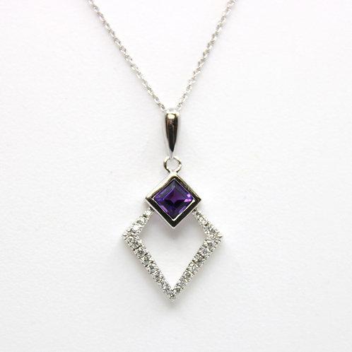 Amathyst and Diamond Pendant