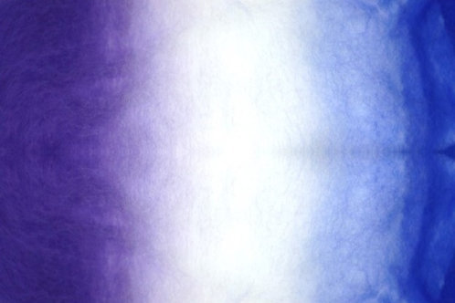 Corriedale Tri-Color Batting - Violet White Blue