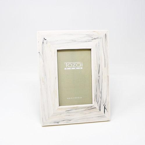 Tazai Home - White Faux Bone Photo Frame 4 x 6