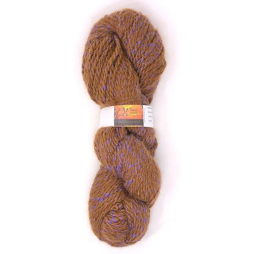 Alpaca 2-Ply Worsted  - Fawn/Purple