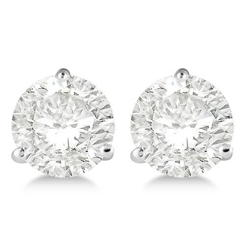 Diamond Stud Earrings - 3/4 Ct. Brilliant Cut