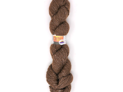 Alpaca Tussah Silk Blend, 2-Ply Sport - Brown Tweed