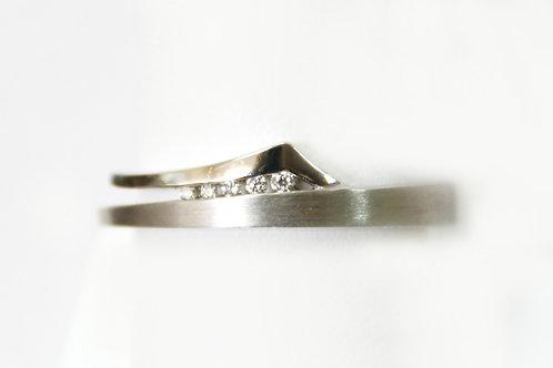 Breuning Sterling Silver Diamond Ring