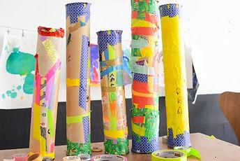 Paper Mache Rain Stick Art Class
