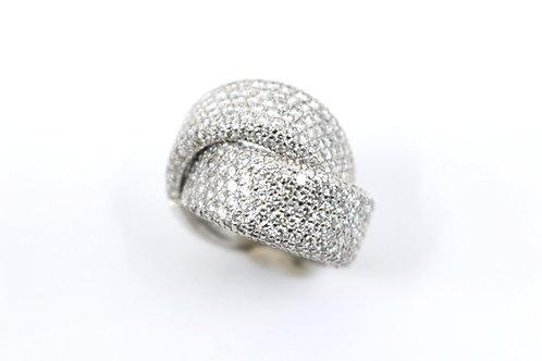 Vintage High Fashion Diamond Bypass Ring