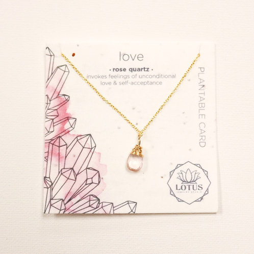 Healing Stone Necklace - Love (Rose Quartz)