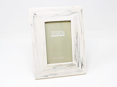Tazai Home - White Faux Bone Photo Frame 5 x 7