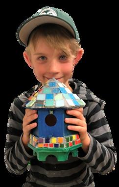 Bird House Mosaic for Kids