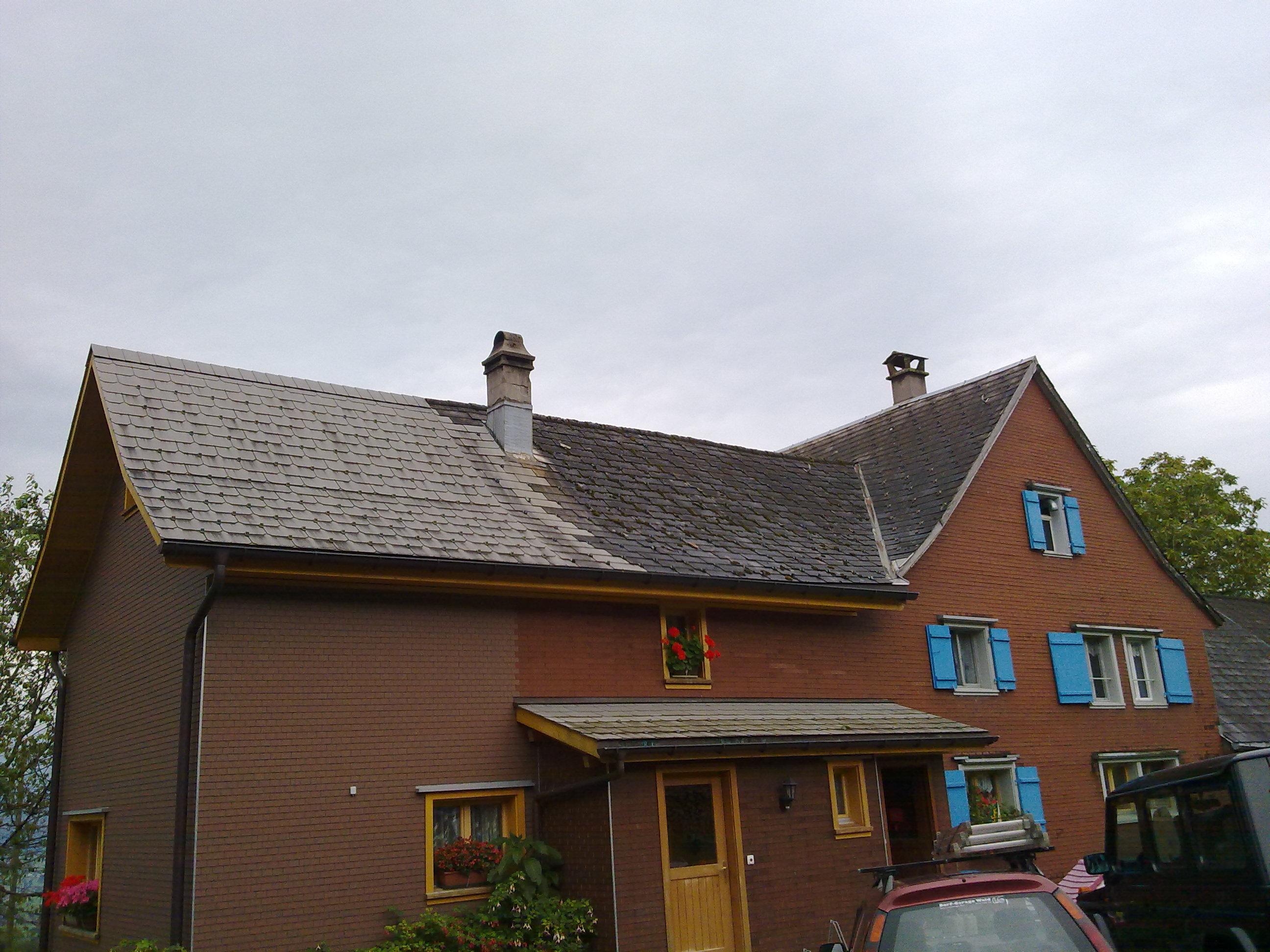 Bauernhof-Dach - vorher