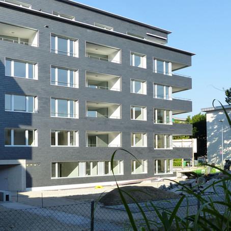 Wohnüberbaung Tägernau Jona - Flachdach -und Fassadenarbeiten