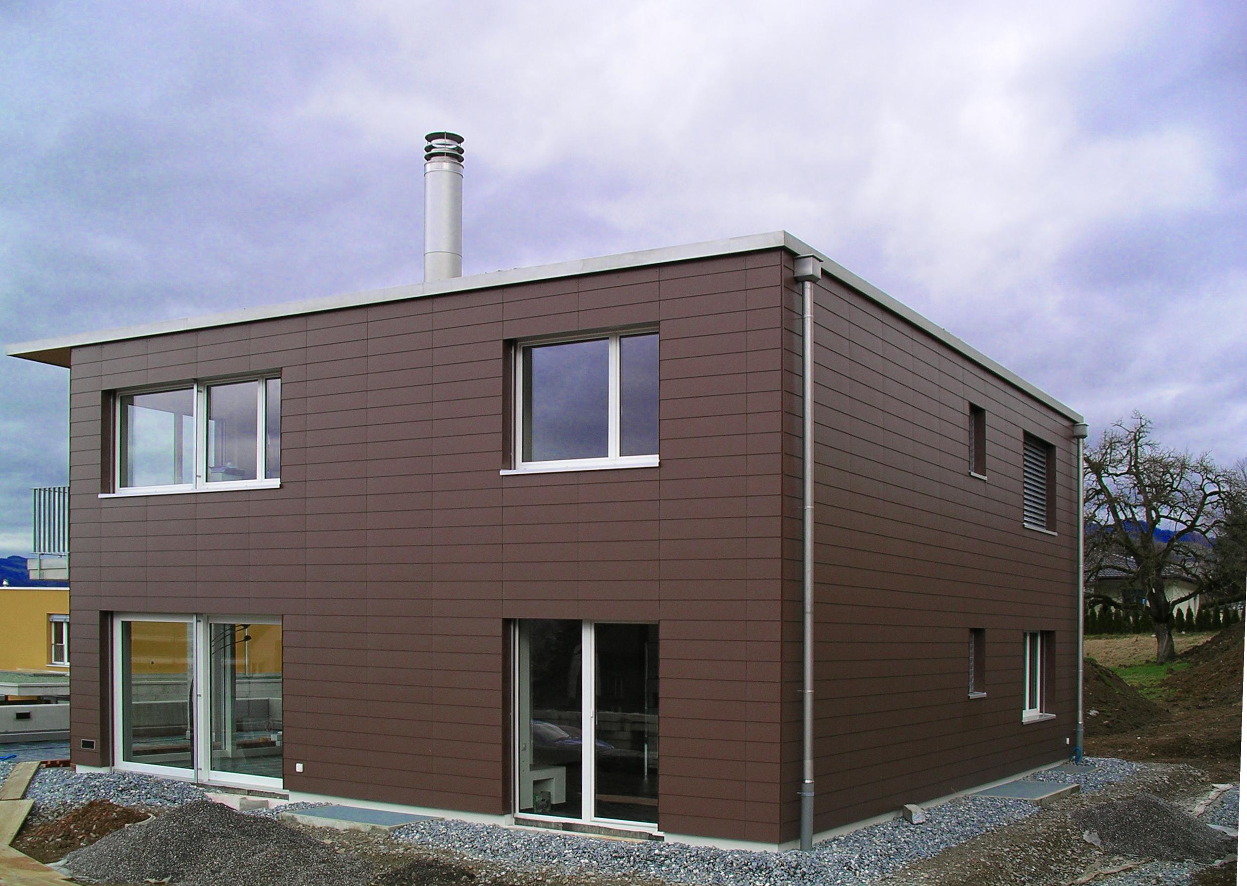 Fassade Eternit, saubere Abschlüsse