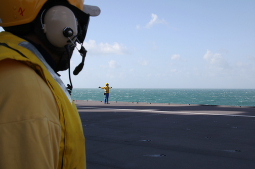 Chien jaune (Aircraft handlers)