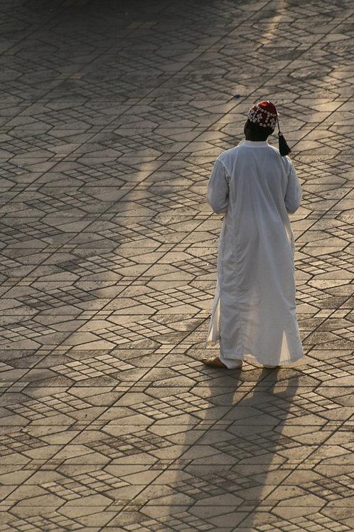Maroc- Homme en blanc