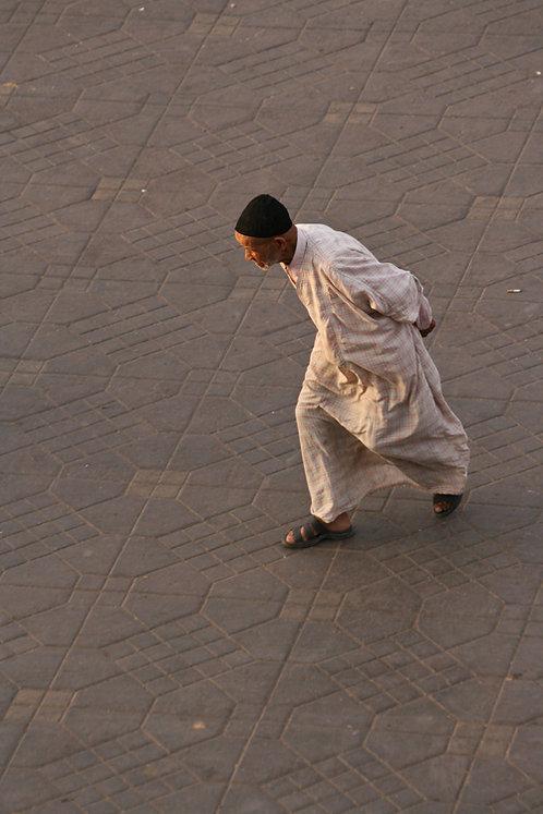 Maroc - Homme en ocre