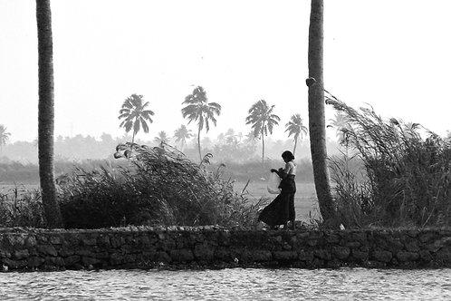 Inde - Femme et vent