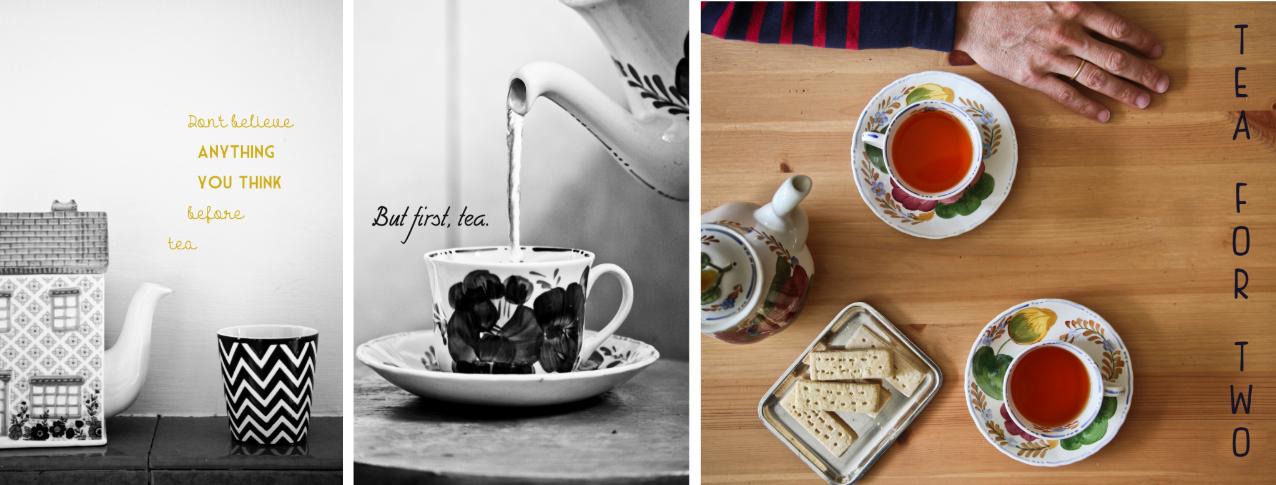 Illustrations autour du thé