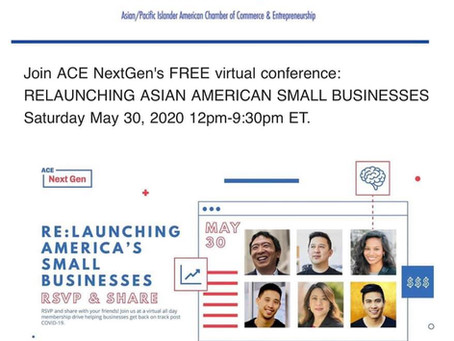 Asian American Small Businesses is an all day, free FB Live event
