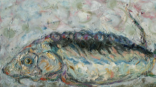 white sturgeon oil on canvas