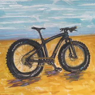 Fat Bike On The Beach