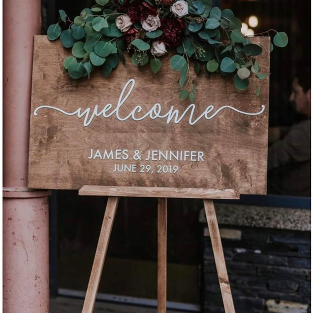 Welcome Sign Flowers