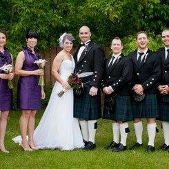 Bridal Party with Bouquets and Boutonnierse