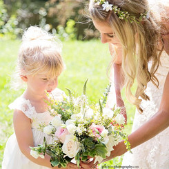 Bride and Flower Girl Bouquet