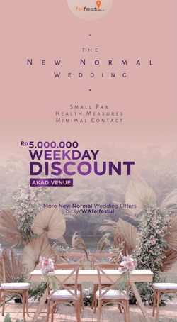 New Normal Wedding Discount