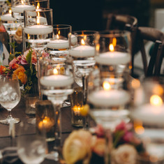 Clear Stem Tablescape